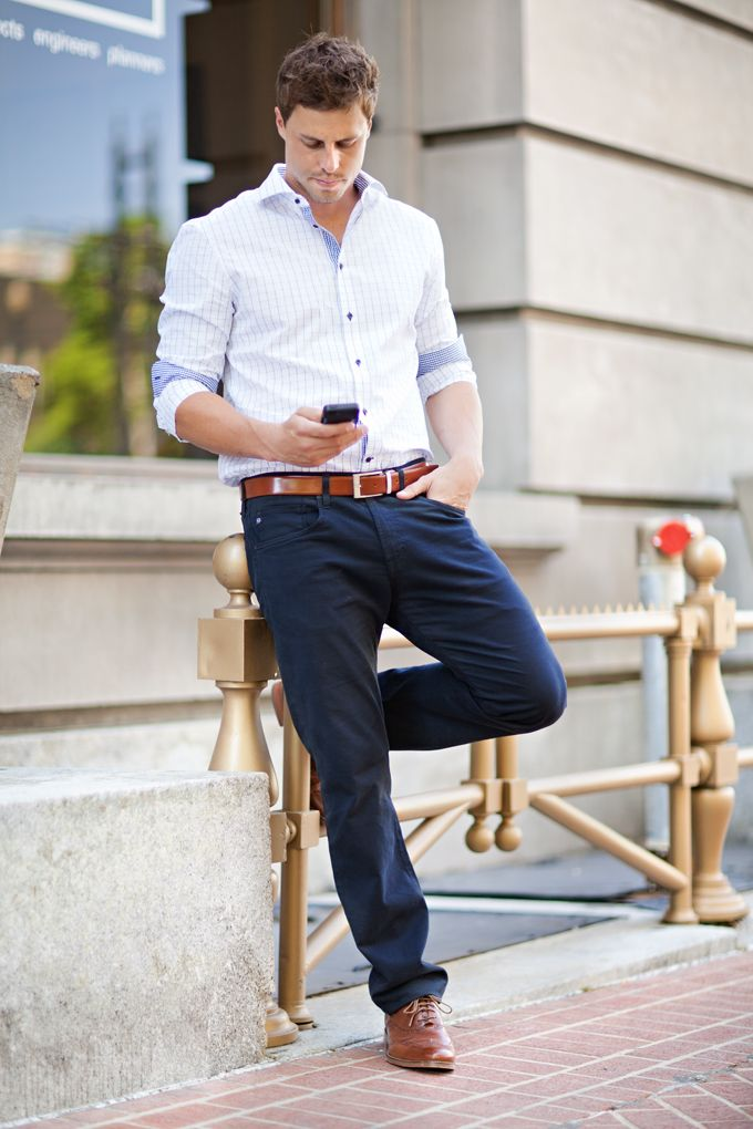 Oxford Shirt and Tailored Trousers