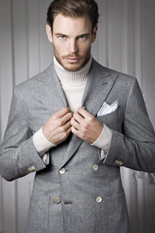 Roll Neck with Blazer