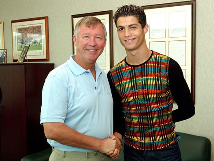 18-year-old Cristiano Ronaldo