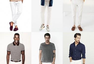 White chinos and trousers